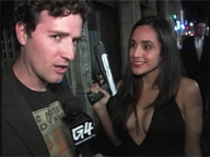 Reporter with Film's Lara Croft